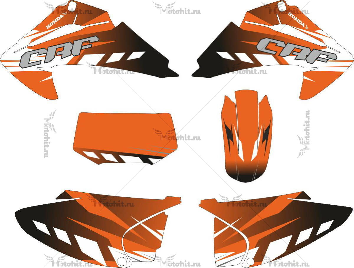 Комплект наклеек Honda CRF-230 2007 LARANJA.CMX