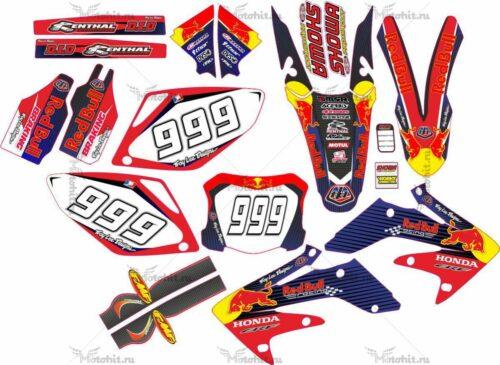 Комплект наклеек Honda CRF-250 CRF-450 2007-2008