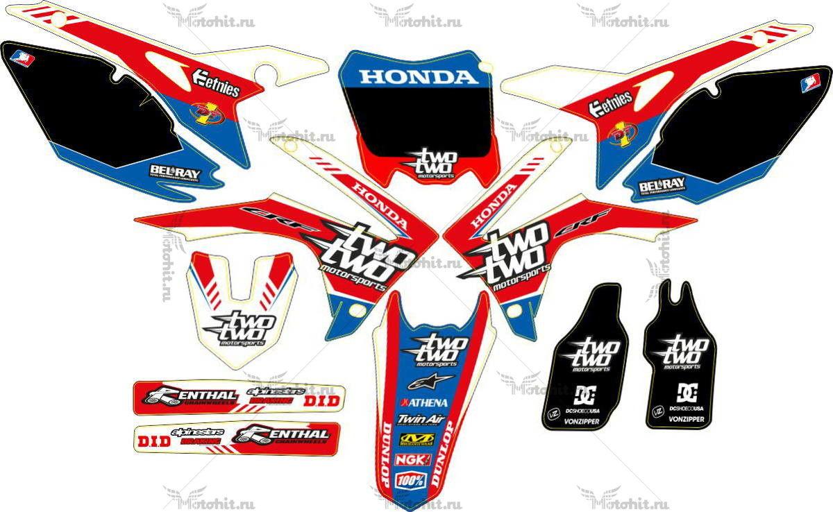 Комплект наклеек Honda CRF-250 CRF-450 2013-2014 TWOTWO