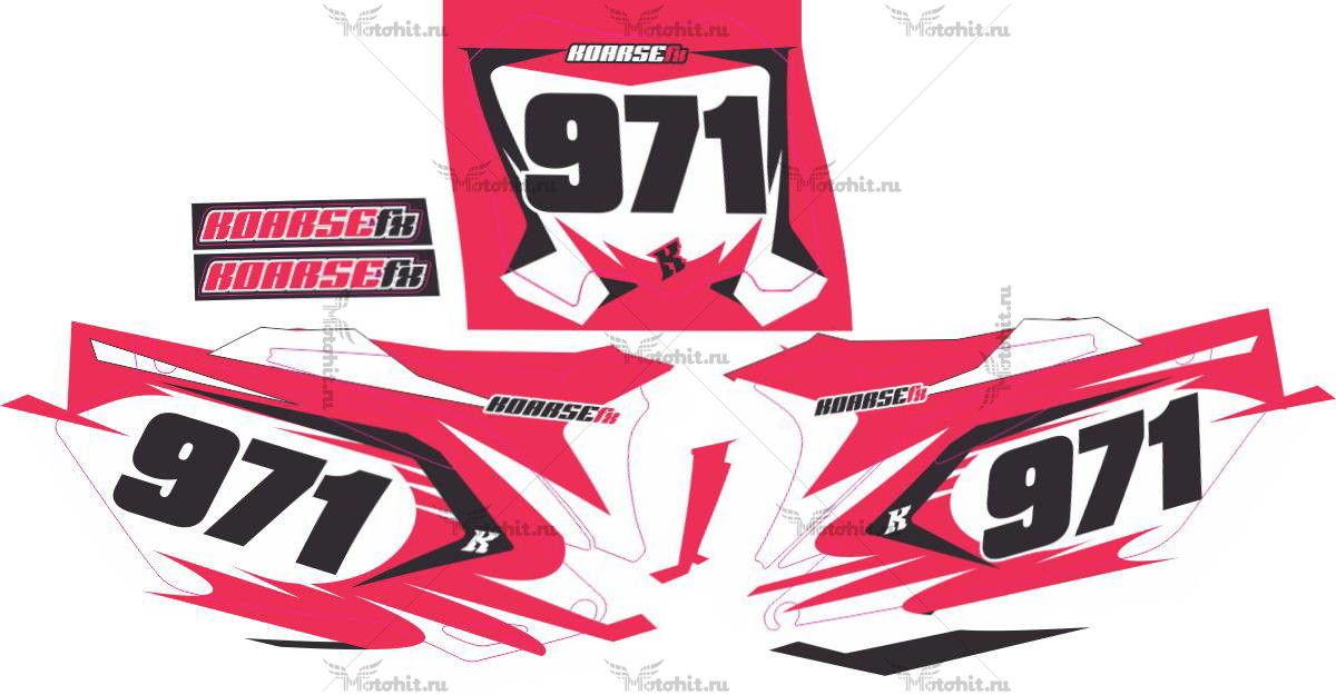 Комплект наклеек Honda CRF-250 CRF-450 HAY-PINK