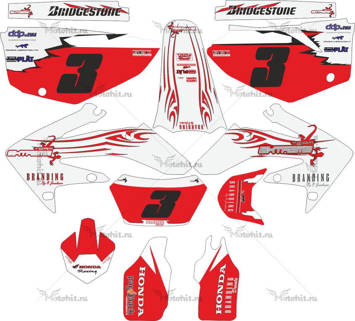 Комплект наклеек Honda CRF-250-X 2004-2008