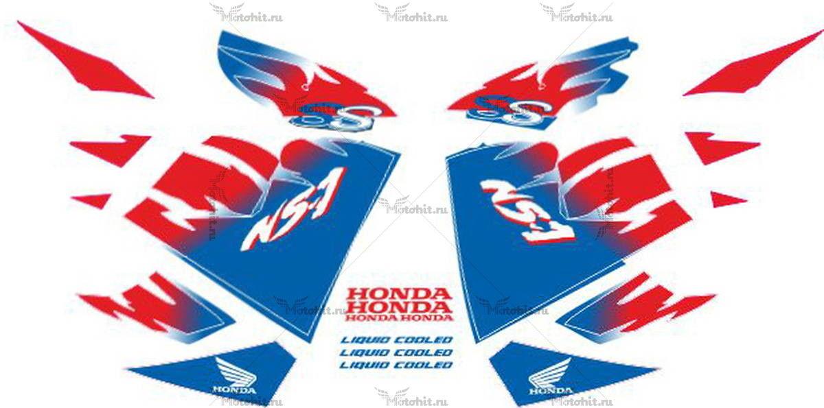 Комплект наклеек Honda NS-1 1996 BLUE-RED