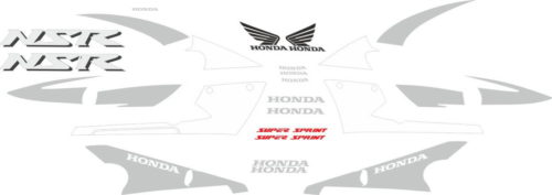 Комплект наклеек Honda NSR-125 2001-2002