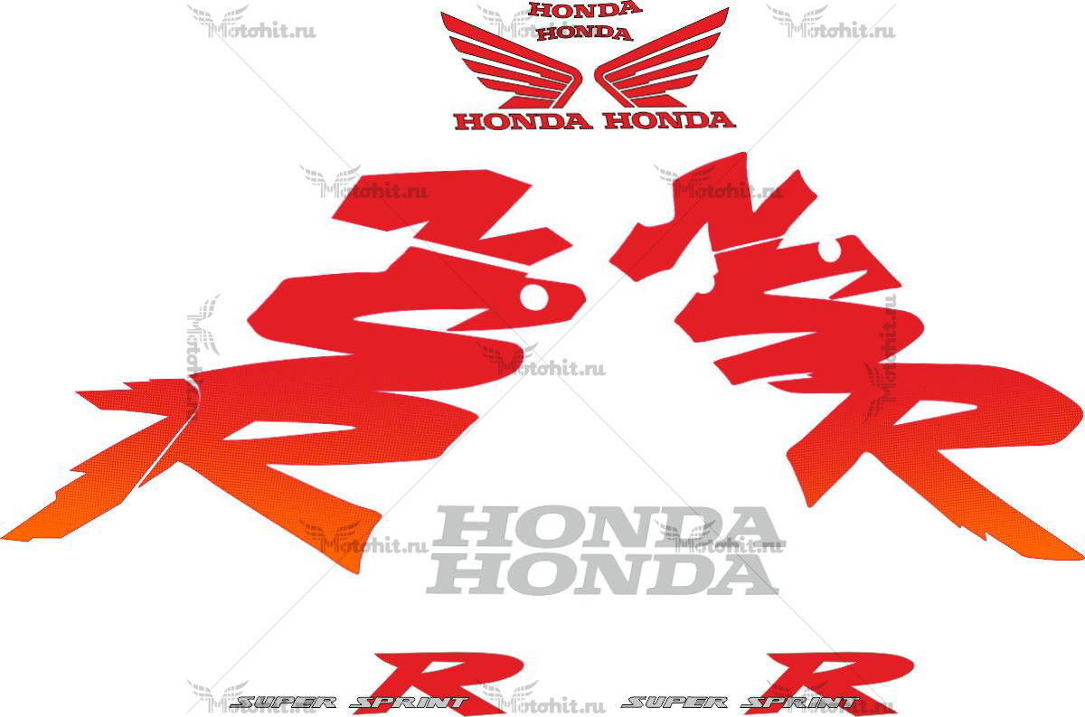 Комплект наклеек Honda NSR-125-R 1999-2000 2