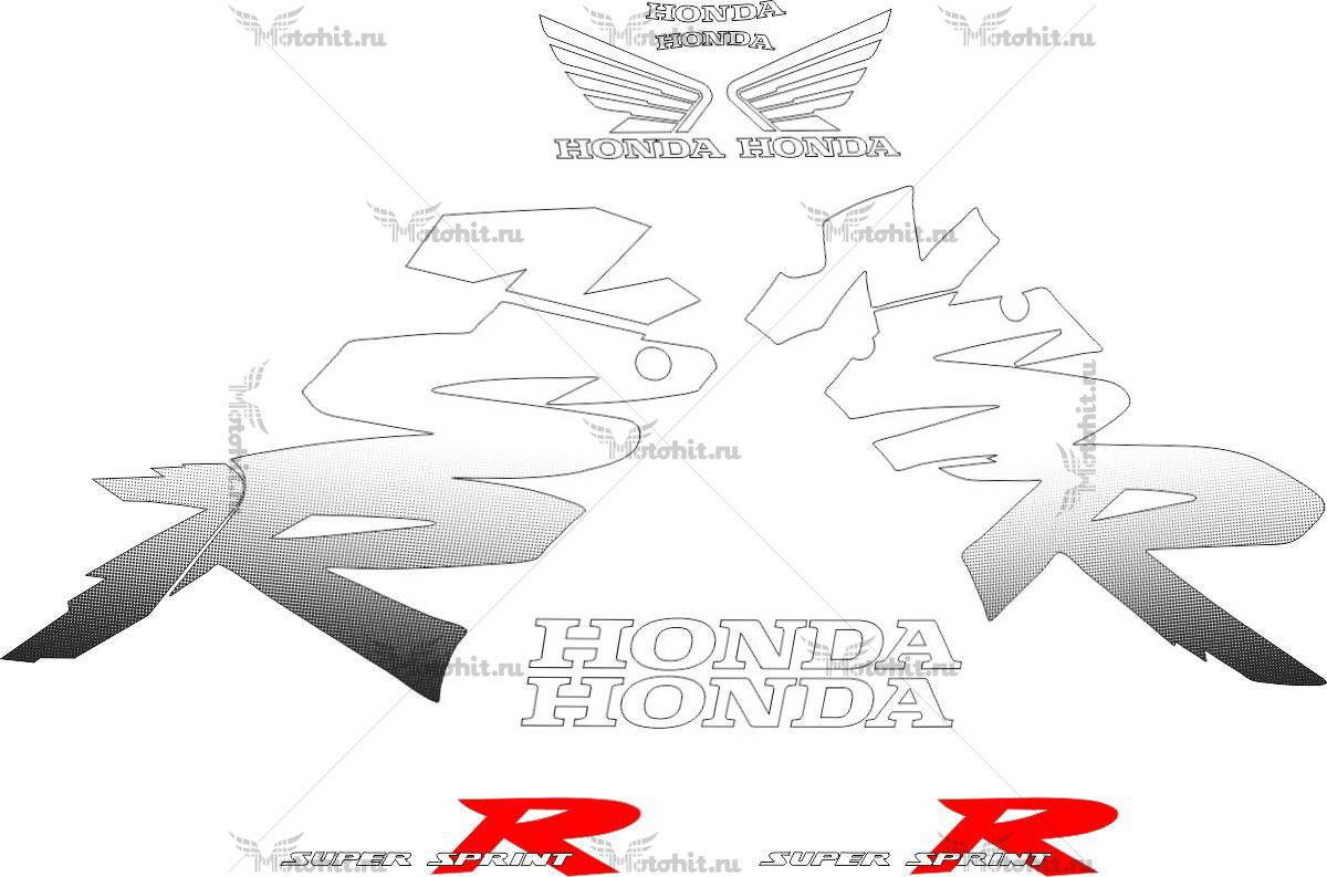 Комплект наклеек Honda NSR-125-R 1999-2000 WHITE