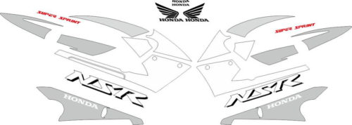 Комплект наклеек Honda NSR-125-R 2001-2002