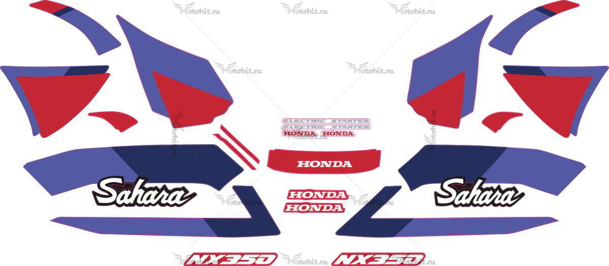 Комплект наклеек Honda NX-350 1992 SAHARA