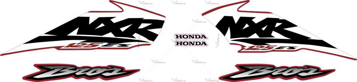 Комплект наклеек Honda NXR-125 2003