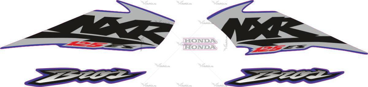 Комплект наклеек Honda NXR-125 2003 SILVER