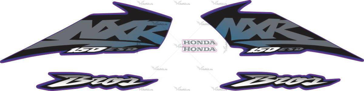 Комплект наклеек Honda NXR-150 2003 BLUE