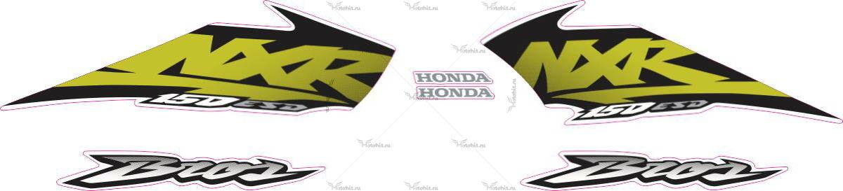 Комплект наклеек Honda NXR-150 2003 gold