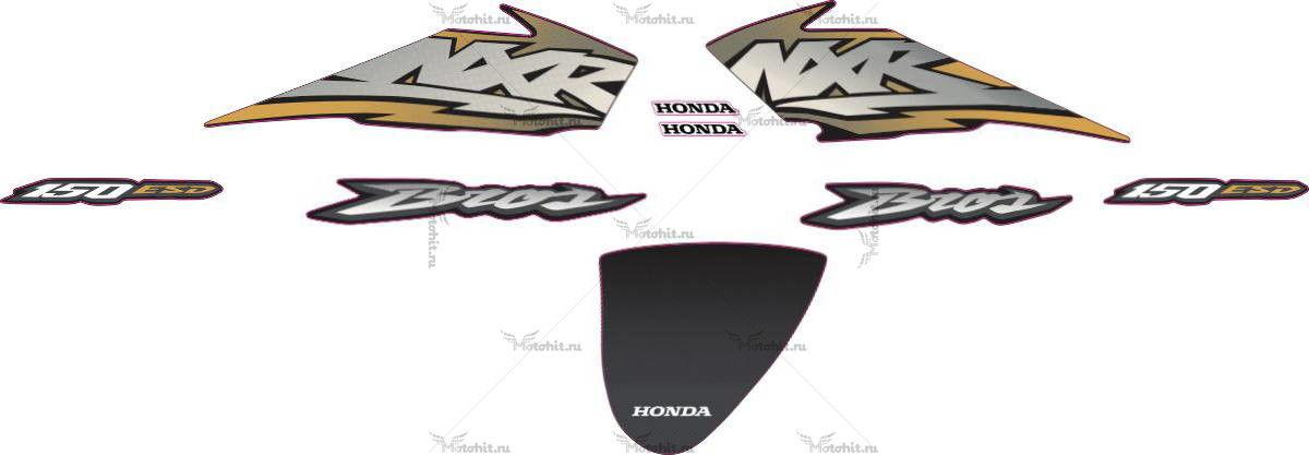 Комплект наклеек Honda NXR-150 2004 gold