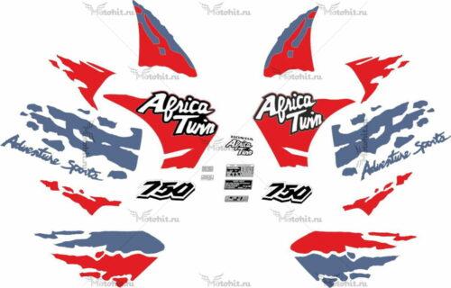 Комплект наклеек Honda RD-750 1994 AFRICA-TWIN RD-07
