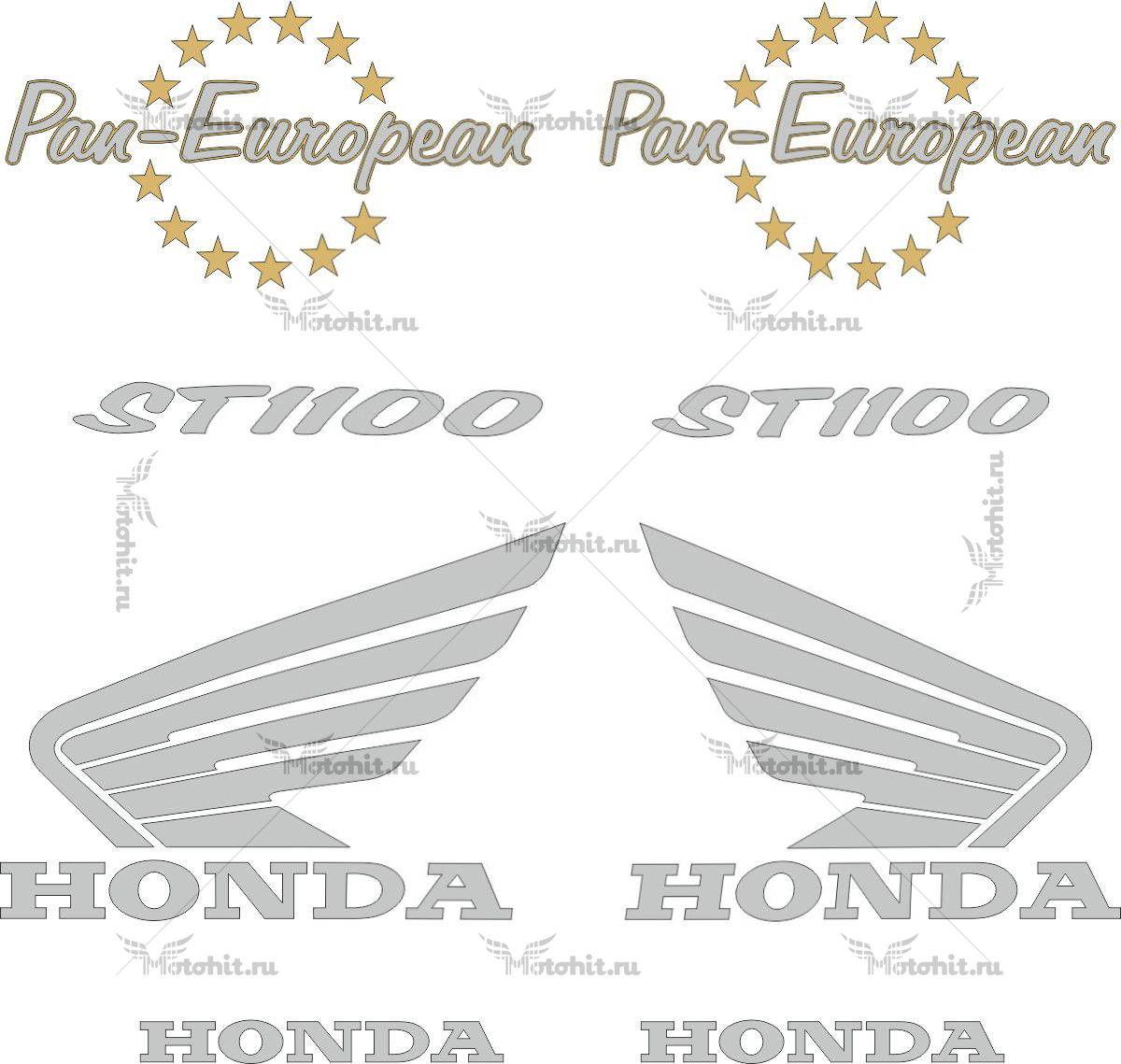 Комплект наклеек Honda ST-1100 1990-2002