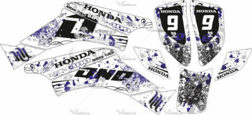 Комплект наклеек Honda TRX-400 BLUE-WHITE