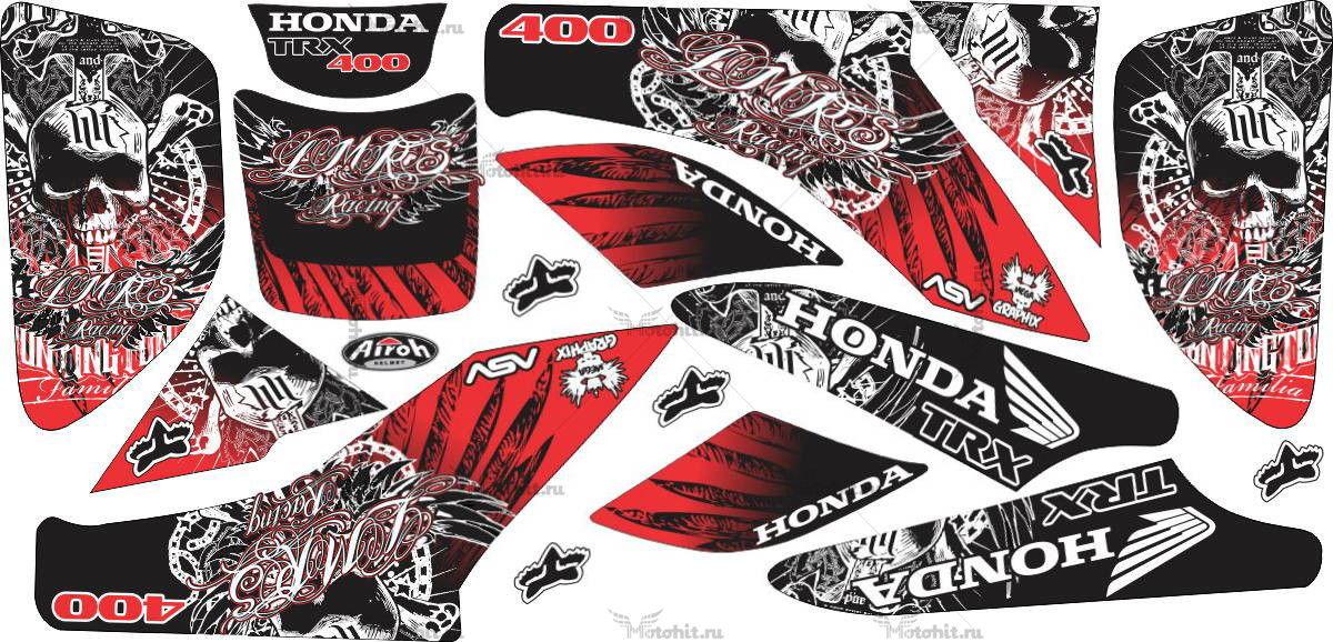 Комплект наклеек Honda TRX-450 HART-SCULLS