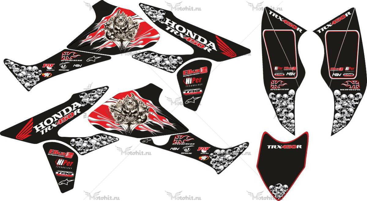 Комплект наклеек Honda TRX-450-R SKULLS