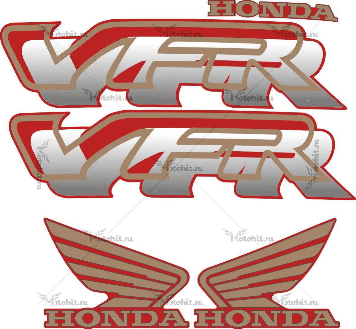 Комплект наклеек Honda VFR 1997 RED