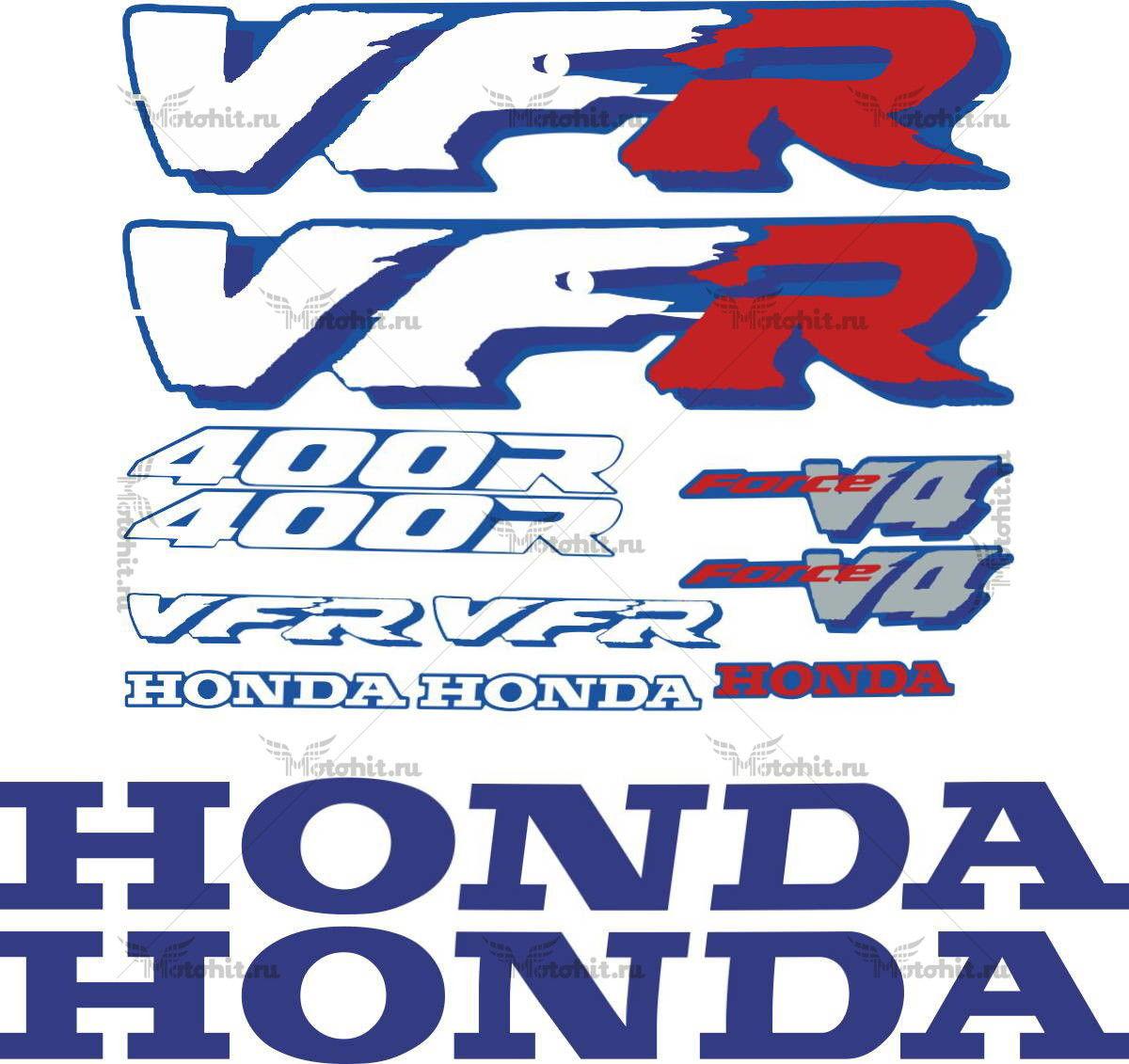 Комплект наклеек Honda VFR-400-R 1990-1998