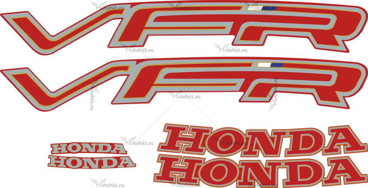 Комплект наклеек Honda VFR-750 1991 RED