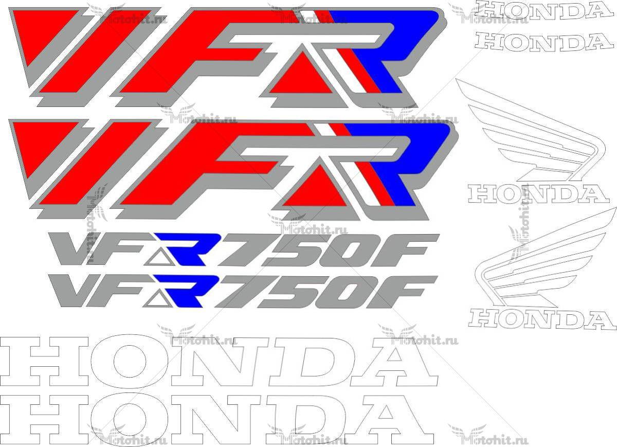 Комплект наклеек Honda VFR-750-F 1992