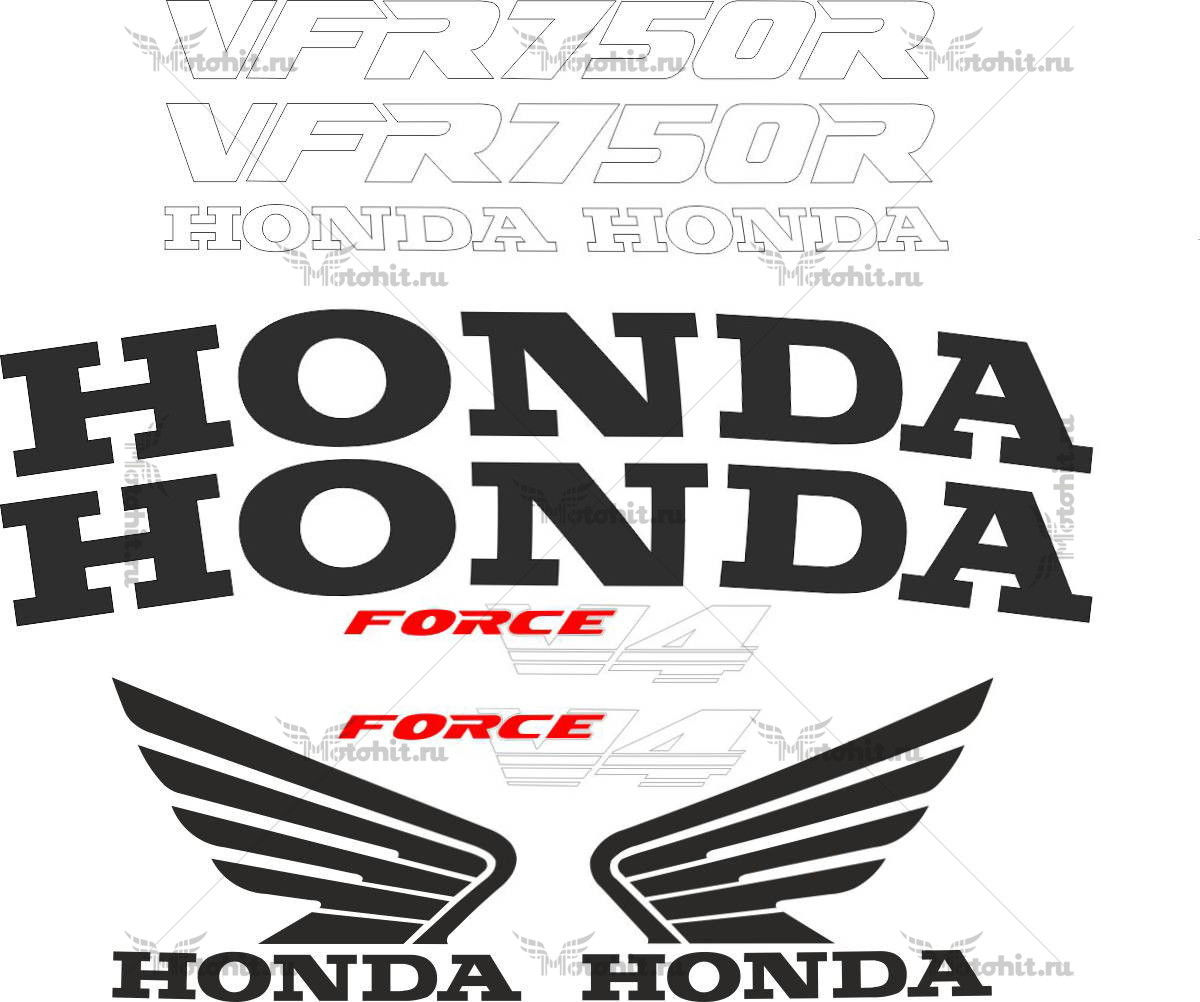 Комплект наклеек Honda VFR-750-R