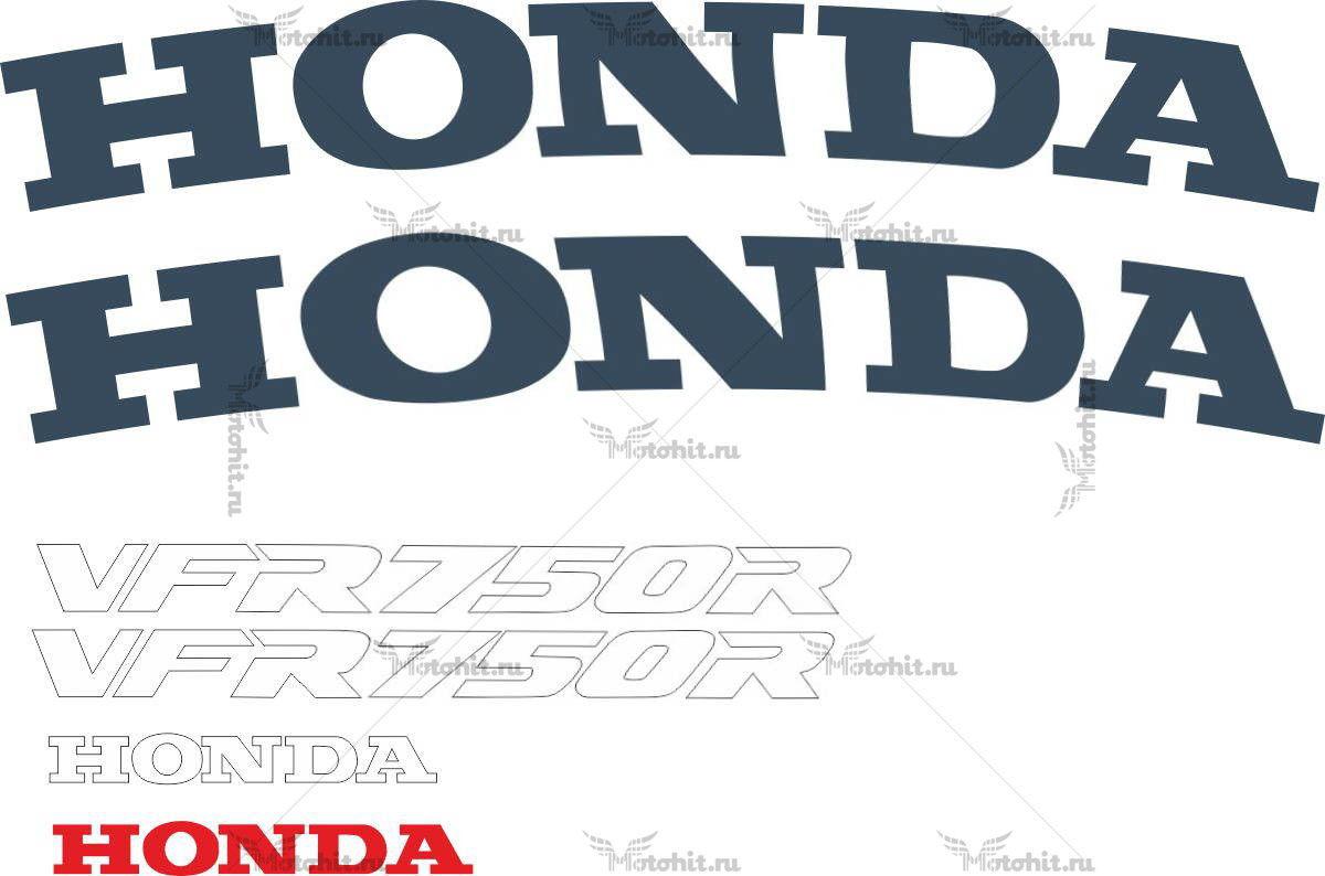 Комплект наклеек Honda VFR-750-R 1987-1990