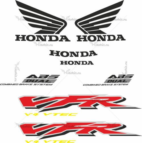 Комплект наклеек Honda VFR-800-F 2002-2008 V-TEC