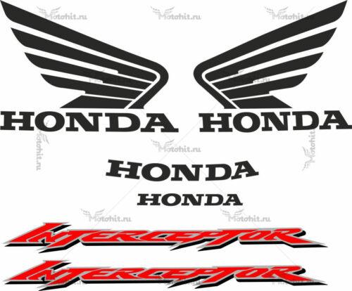 Комплект наклеек Honda VFR-800-F 2002-2008 V-TEC-INTERCEPTOR