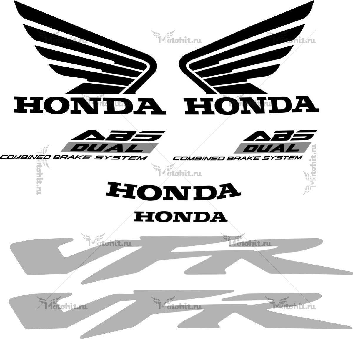 Комплект наклеек Honda VFR-800-F 2009+ V-TEC