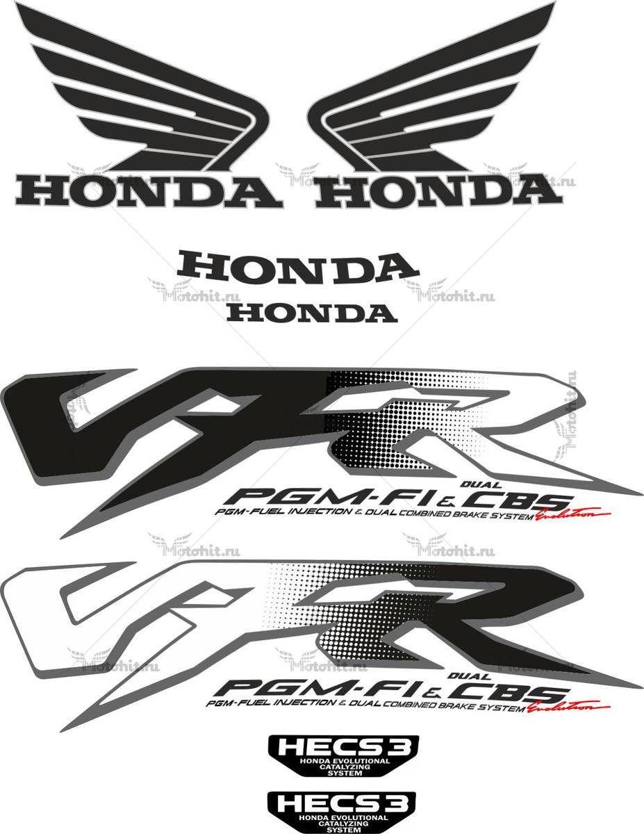 Комплект наклеек Honda VFR-800-FI 1998-2001 2