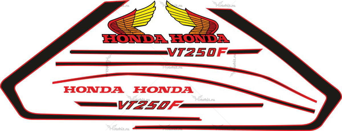 Комплект наклеек Honda VT-250-F 1980 S
