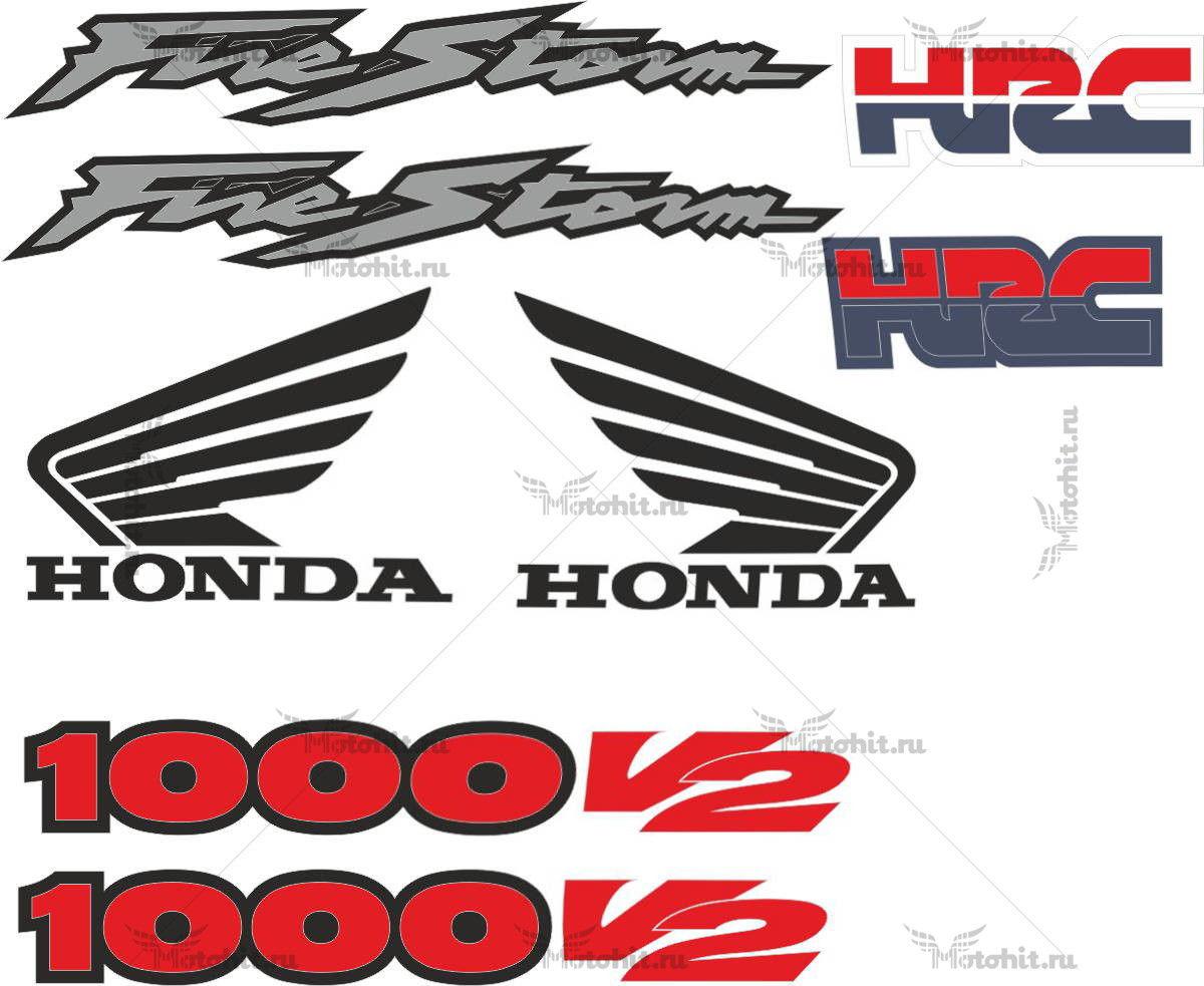 Комплект наклеек Honda HRC FIRESTORM