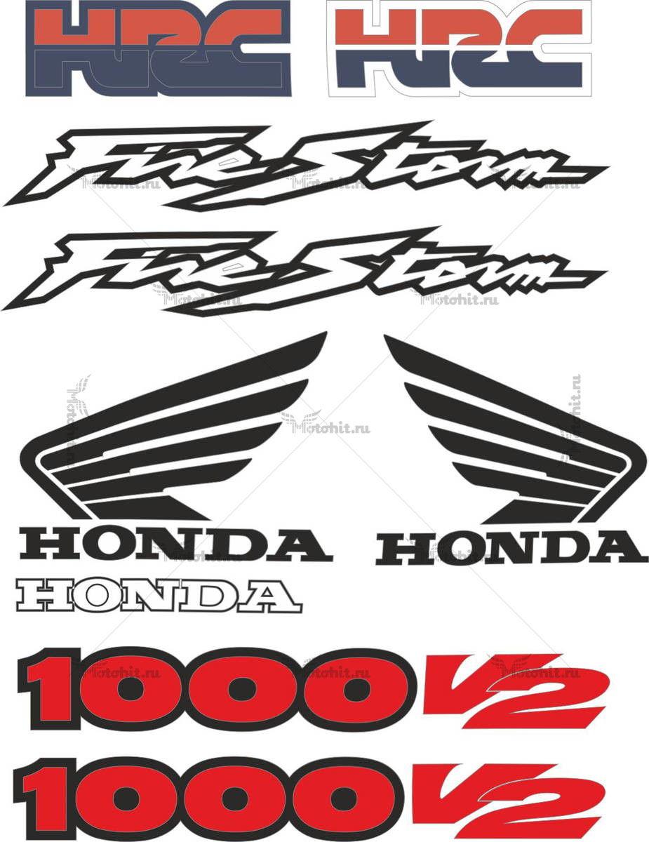 Комплект наклеек Honda VTR-1000 2000+ V2-FIRESTORM-HRC