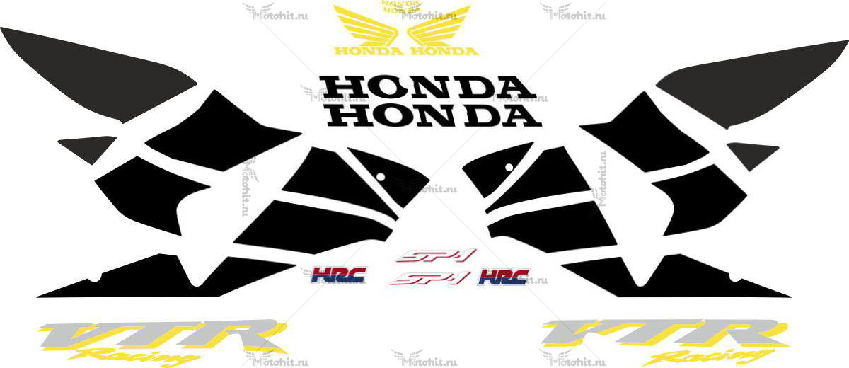 Комплект наклеек Honda VTR-1000 2000-2001 SP1-GOLD