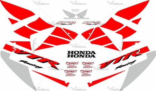 Комплект наклеек Honda VTR-1000 2002-2006 RC51-SP2-RED
