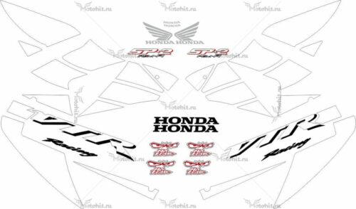 Комплект наклеек Honda VTR-1000 2002-2006 RC51-SP2-WHITE