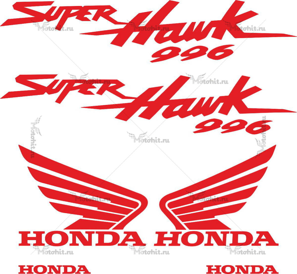 Комплект наклеек Honda VTR-1000-F-996 SUPERHAWK