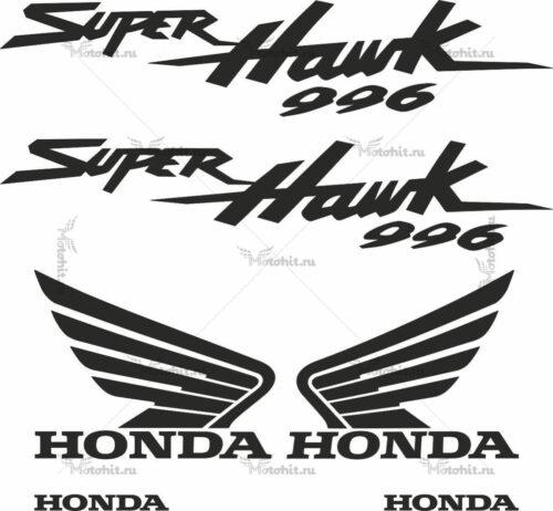 Комплект наклеек Honda VTR-1000-F-996 SUPERHAWK-BLACK