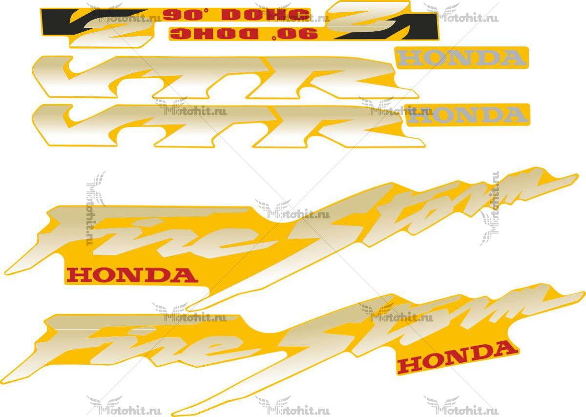 Комплект наклеек Honda VTR-1000-F 1997-2005 FIRESTORM GOLD