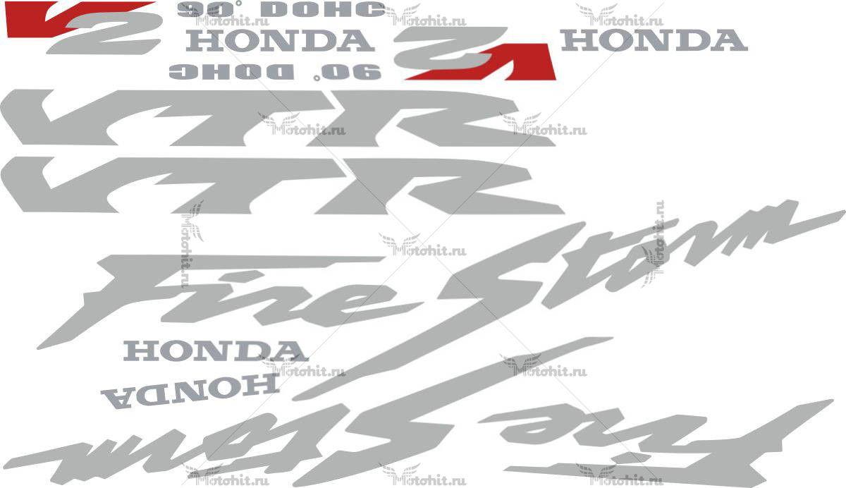 Комплект наклеек Honda VTR-1000-F 1997-2005 FIRESTORM-SILVER
