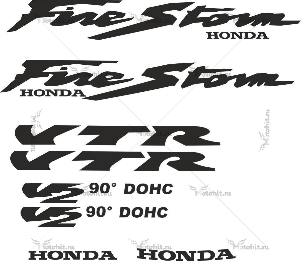 Комплект наклеек Honda VTR-FIRESTORM