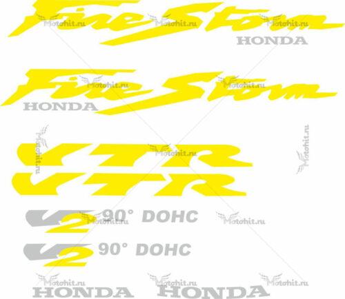 Комплект наклеек Honda VTR-FIRESTORM-YELLOW