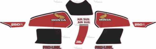 Комплект наклеек Honda XL-250-R 1982