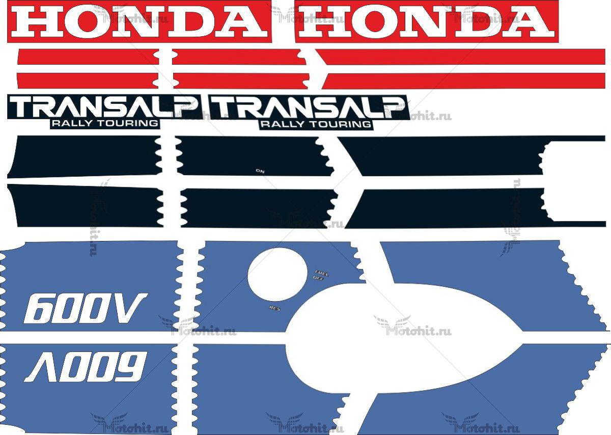 Комплект наклеек Honda XL-600-V 1987
