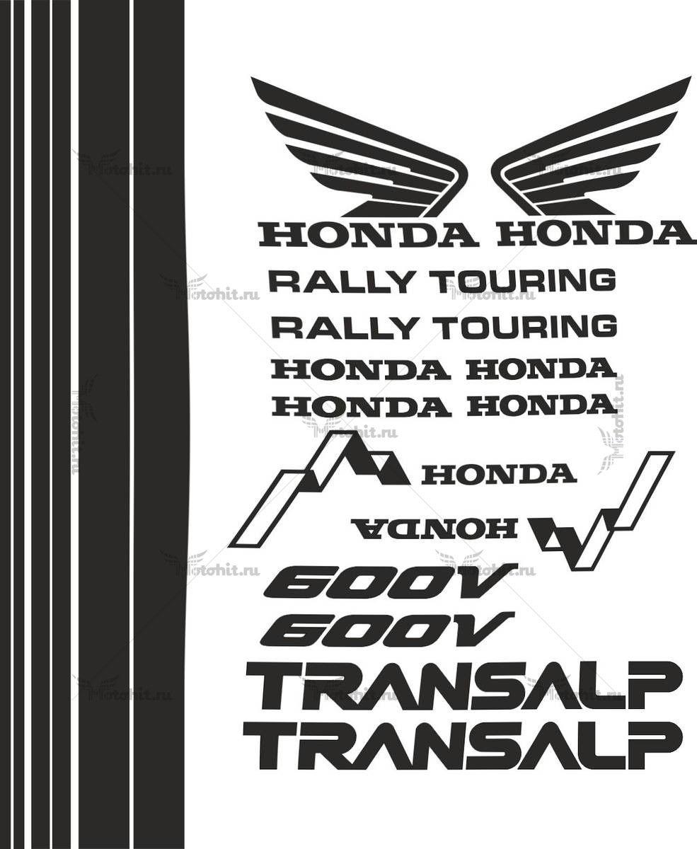 Комплект наклеек Honda XL-600-V TRANSALP 1990