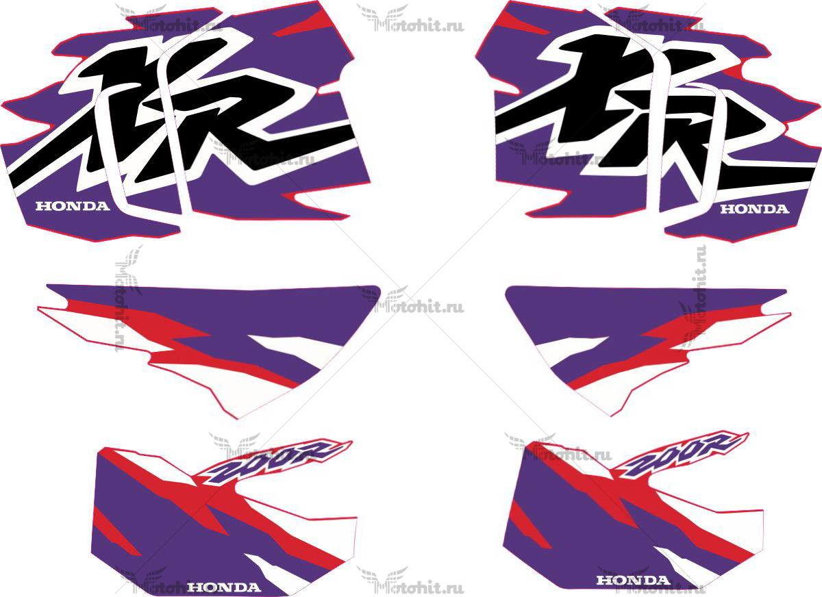 Комплект наклеек Honda XR-200-R 1996