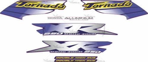 Комплект наклеек Honda XR-250 2001-2002 SIlver
