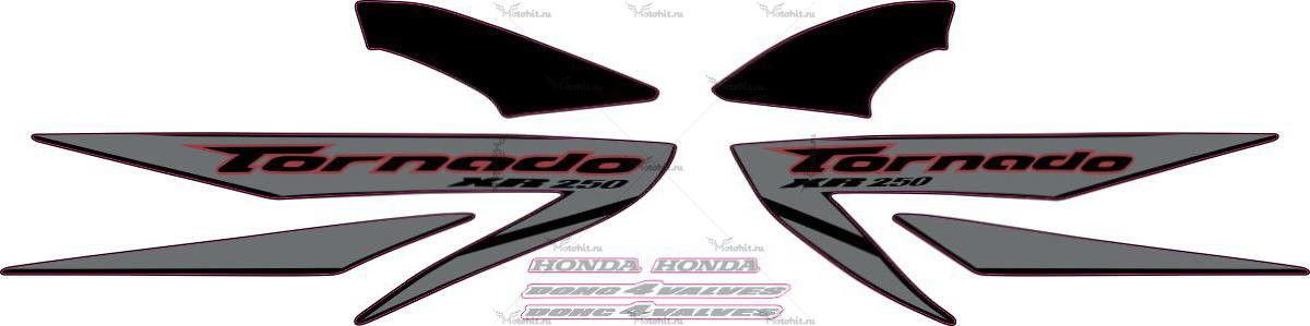 Комплект наклеек Honda XR-250 2007 SILVER