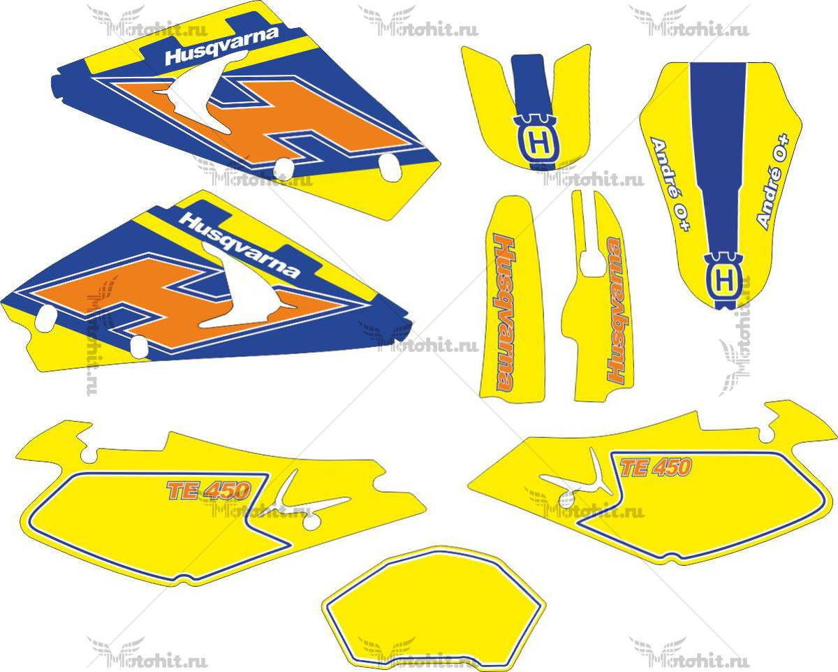 Комплект наклеек HUSQVARNA TE-450 2004